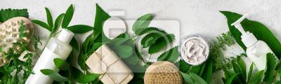 Tapeta Natural skincare and leaves
