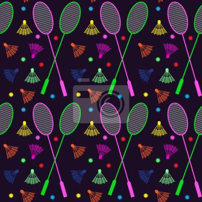 Tapeta Neon Badminton