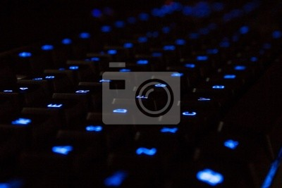 neon niebieski klawiatury