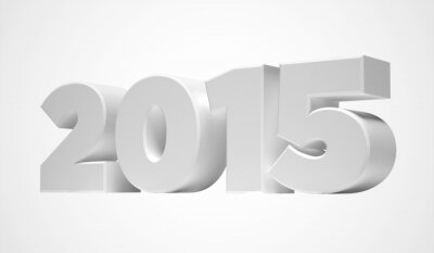 New Year 2015 isolated on a white background