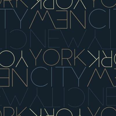 Tapeta New York City, USA seamless pattern