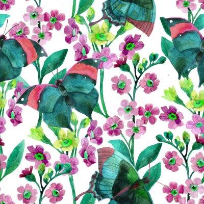 Tapeta Nie zapomnij o kwiatach