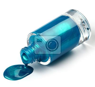 Niebieski błyszczące paznokci polski