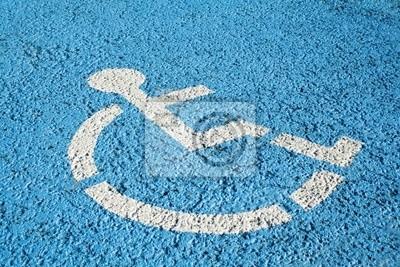 Tapeta Niebieski handicap parking lub przystosowane dla osób niepełnosprawnych zarejestruj się parking.