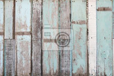 Tapeta Niebieski paski desek tle drewna
