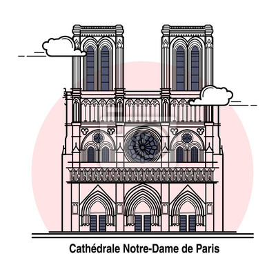 Tapeta Notre-Dame de Paris kartą