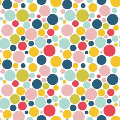 Tapeta Nowoczesna Abstract Vector Big konfetti tła. Jednolite kolorowe kropki wzór. Uroczysty powtórz stroną.