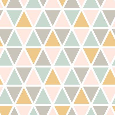 Tapeta Nowoczesny abstrakcyjny wzór trójkąta bez szwu. Skandynawski styl. Pastelowe kolory Wektor tła.