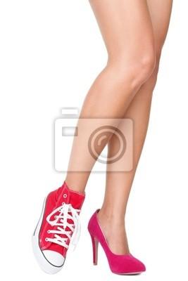 01e92f1f Tapeta Różowe buty na obcasie i sexy nogi • czerwony, piękno ...