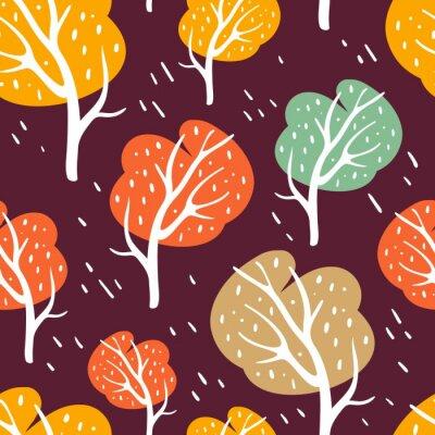Tapeta Odbarwiony szwu z drzew.