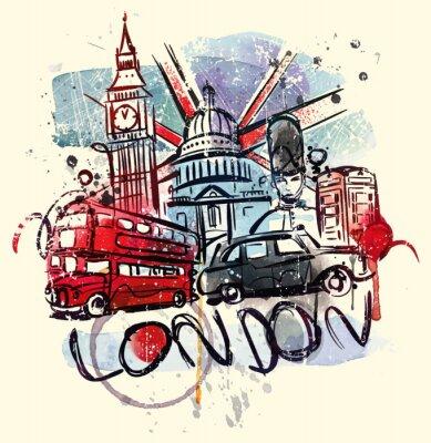 Tapeta Odwiedź Londyn