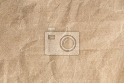 Tapeta Odzyskuj brązowy papier zmięty tekstur, Stare tło papieru na tle