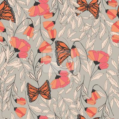 Tapeta Ogród Letni Monarcha