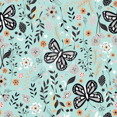Tapeta Ogród Motylów