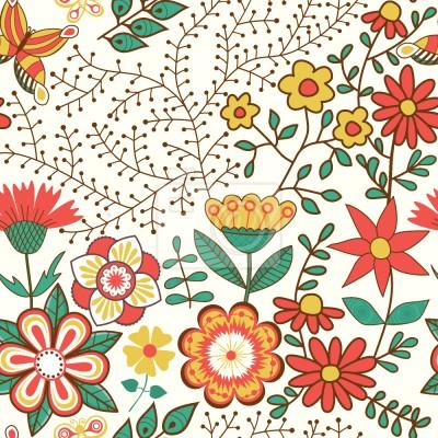 Tapeta Ogród z kwiatami