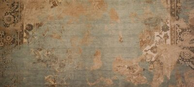 Tapeta Old brown gray rusty vintage worn shabby patchwork motif tiles stone concrete cement wall texture background banner