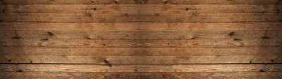 Tapeta old brown rustic dark wooden texture - wood timber background panorama long banner
