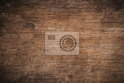 Tapeta Old grunge dark textured wooden background,The surface of the old brown wood texture,top view brown teak wood paneling