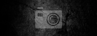 Tapeta Old wall texture cement dark black gray  background abstract grey color design are light with white gradient background.