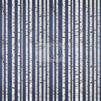 Tapeta Olga Birch Forest Stripes