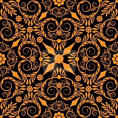 Tapeta opulenta Pomarańczowy