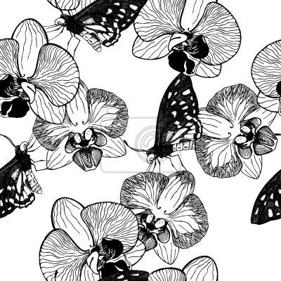 Tapeta Orchidea I Motyl