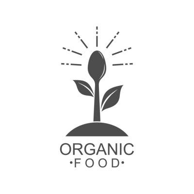 Tapeta Organic food logo design vector