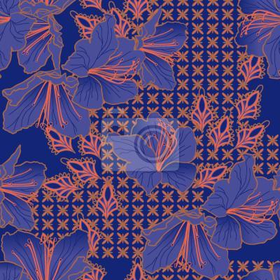 Tapeta ORIENTALNE Kwiaty Calowe