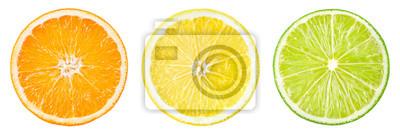 Tapeta Owoc cytrusowy. Pomarańcza, cytryna, limonka, grejpfrut. Plastry pojedyncze o