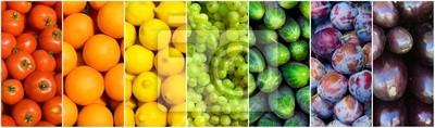 Tapeta owoce tęczy