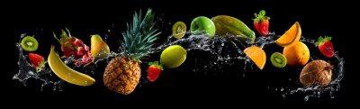 Tapeta Owoce z plusk wody