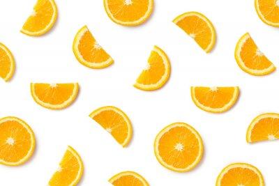 Tapeta Owocowy wzór plasterki pomarańczy