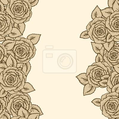 Tapeta OZDOBIONE Śpiąca Uroda Róże