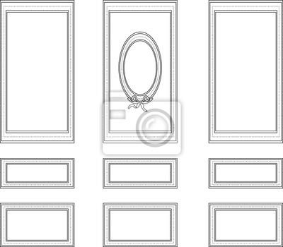 Ozdobne Ramki Na ścianie Lub Tła Projektowanie Wnętrz Panele Tapety Redro