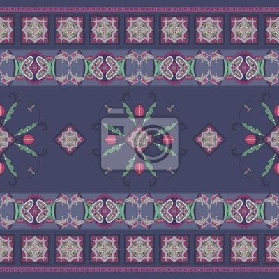 Tapeta Ozdobny kwiatowy haft Paisley, projektowanie ubrań drukowania lub TE