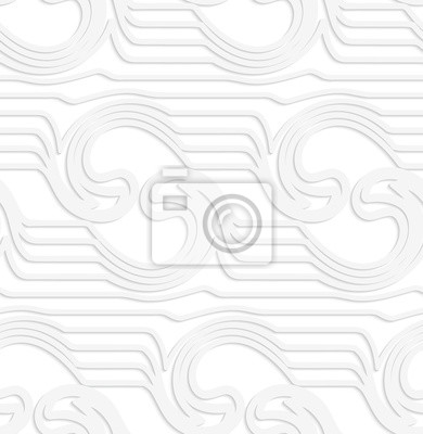 Papierowe białe fale lustrzane z wiruje