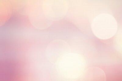 Tapeta Pastel pink bokeh lights