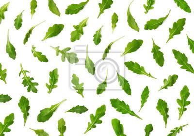 Pattern of fresh arugula or rucola salad leaves
