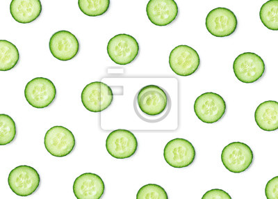 Pattern of fresh cucumber slices