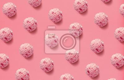 Pattern of strawberry ice cream balls
