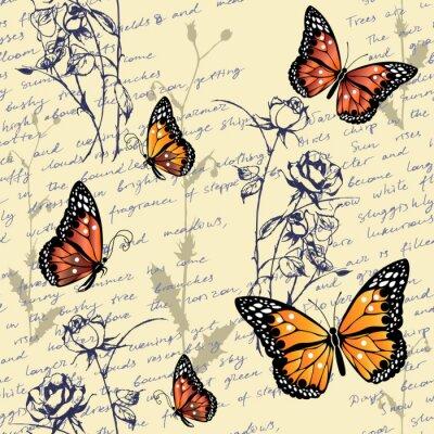 Tapeta Pattern with butterflies