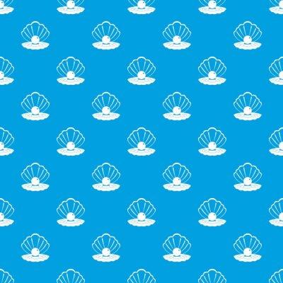 Tapeta Perła w muszli wzór bez szwu niebieski