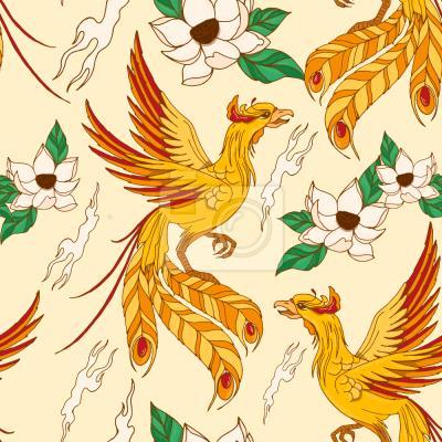 Tapeta Phoenix I Lotosu