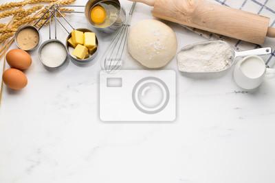 Tapeta Pieczenie ciasta z ciasta składników receptury