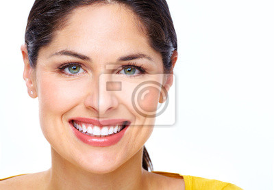 Tapeta Piękna młoda kobieta twarz.
