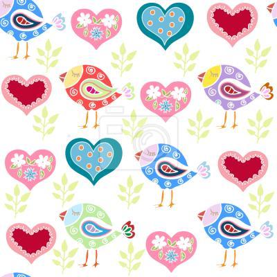 Tapeta Piękne Ptaki