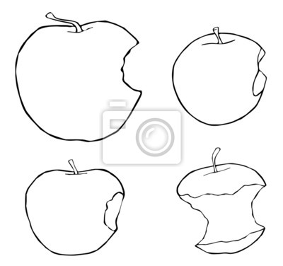 Tapeta Piękny ogród - Bitten jabłka