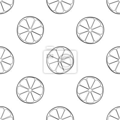 Tapeta Piękny ogród - Jednolite wzór partii plasterki cytryny