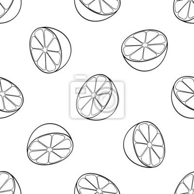 Tapeta Piękny ogród - Jednolite wzór z wielu połówki cytryny