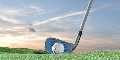 Tapeta Piłka golfowa na zielono